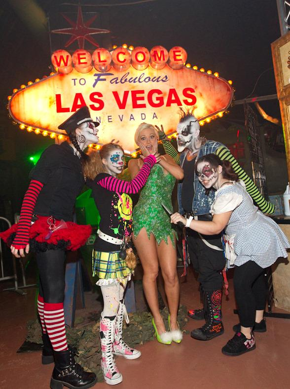 Holly Madison visits Fright Dome at Circus Circus in Las Vegas
