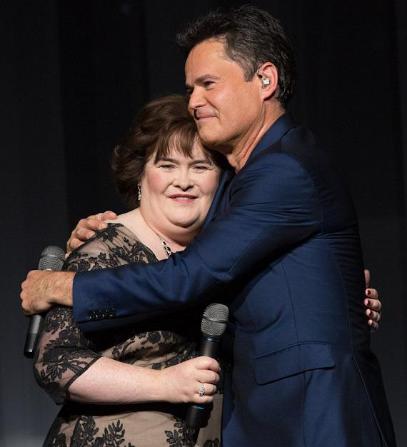 Susan Boyle and Donny Osmond at Flamingo Las Vegas