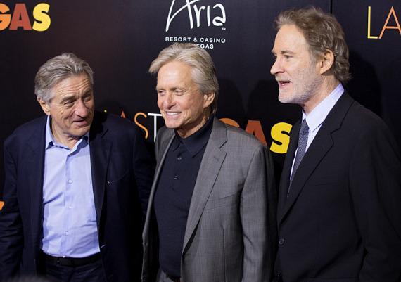 Robert De Niro,  Michael Douglas and  Kevin Kline at HAZE Nightclub in Las Vegas