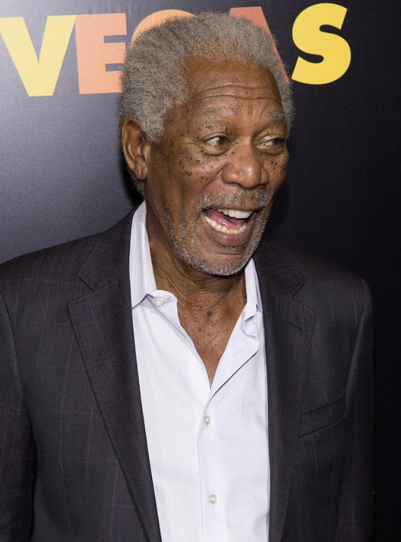 Morgan Freeman at HAZE Nightclub in Las Vegas