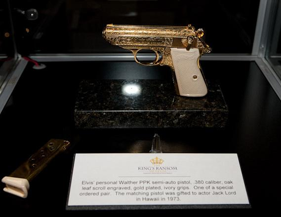 Elvis' personal gold-plated Walther PPK pistol