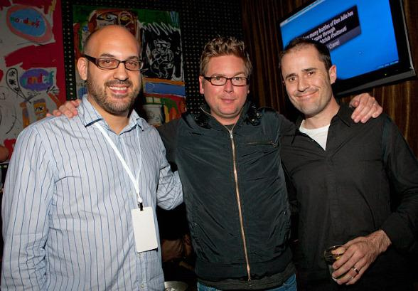 Jason Goldman, Evan Williams and Biz Stone