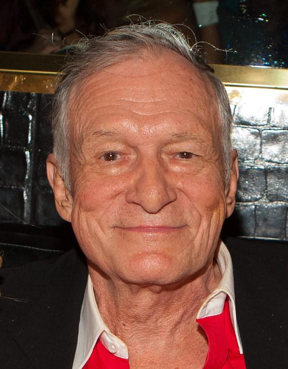 Hugh Hefner at the Playboy Club in Las Vegas in November, 2010