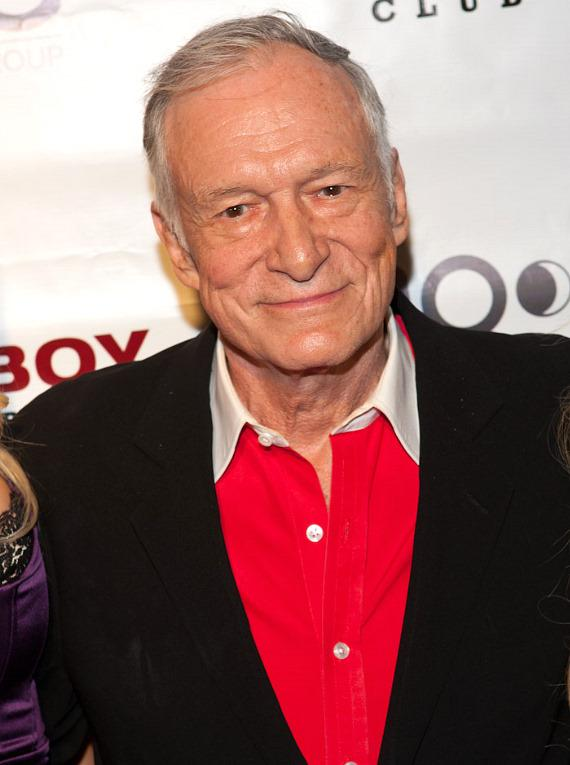 Hugh Hefner at Playboy Club in the Palms Casino Resort