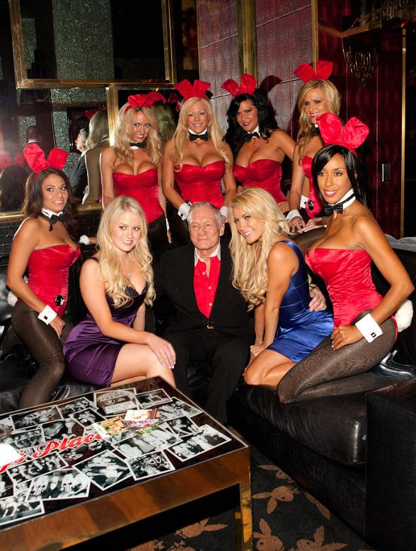 Hugh Hefner with Anna Sophia Berglund, his girl