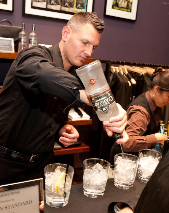 Bartender serving specialty cocktails presented by Russian Standard Vodka