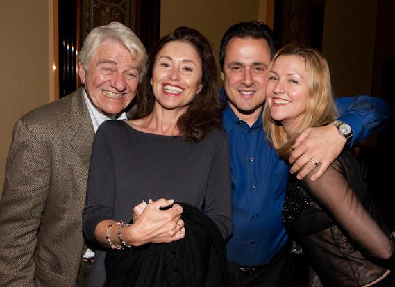 Seymour Cassel with 'Reach For Me' film producers Susan Rogers and Charlene Blaine-Schulenberg and Angelo Giordano who will premiere and distribute the film