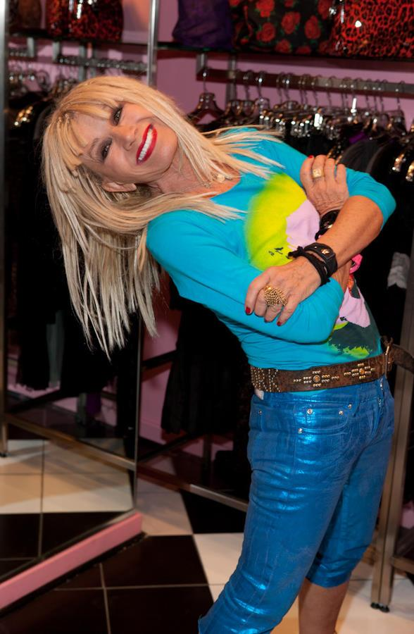 Fashion designer Betsy Johnson at The Miracle Miles Shops in Planet Hollywood