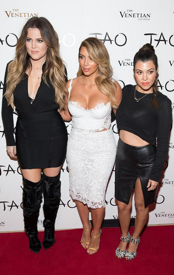 Kourtney, Kim and Khloe Kardashian at TAO