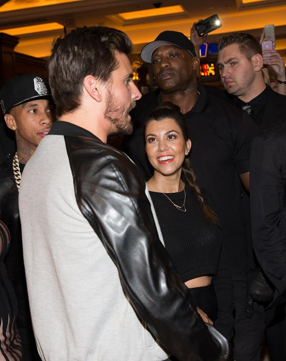Scott Disick and Kourtney Kardashian at TAO