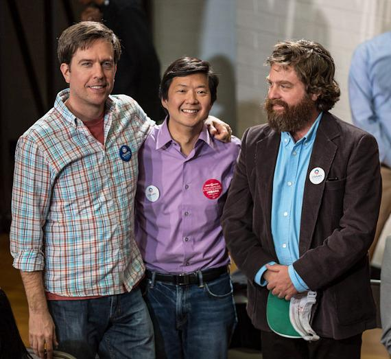Ed Helms, Ken Jeong, and Zach Galifianakis