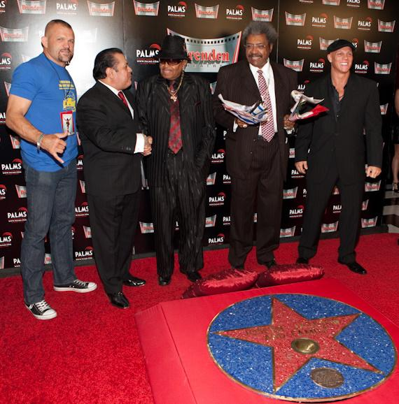 Chuck Liddell, Jerry Olivarez, Joe Jackson, Don King and Johnny Brenden