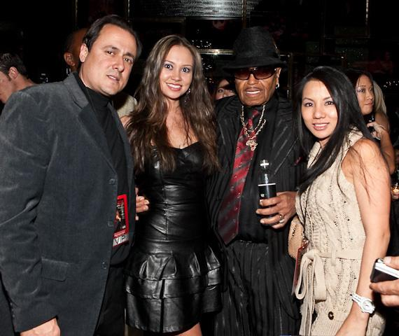 Angelo Giordano, Crystal Marven, Joe Jackson and Chrstine Girodano at The Playboy Club