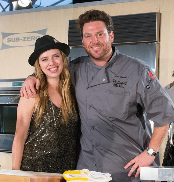 Chef Scott Conant with ZZ Ward