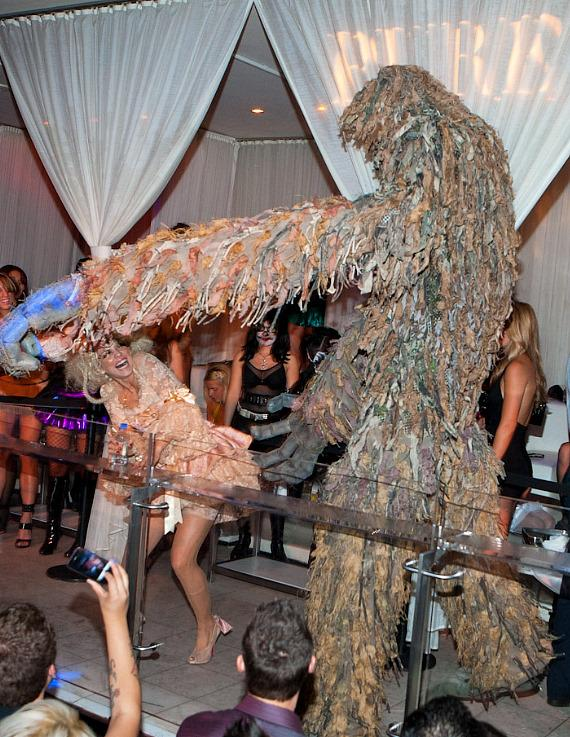 AnnaLynne and Swamp Monster at PURE Nightclub