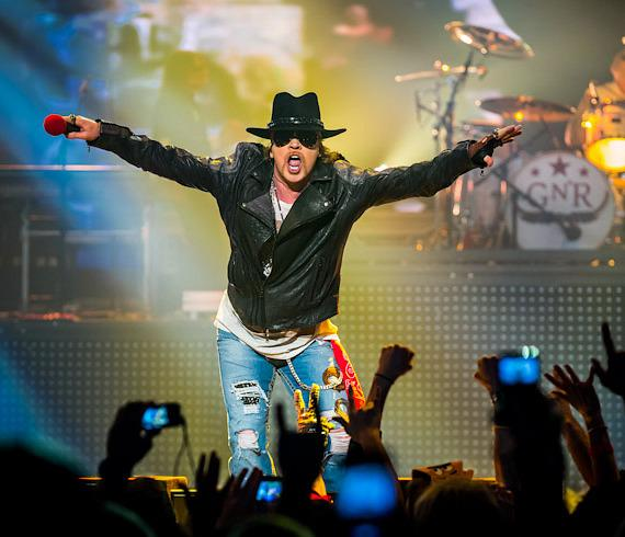 Rock Legends Guns N' Roses kick off residency at The Joint in Hard Rock Hotel