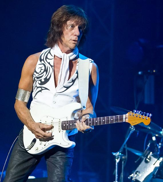 Guitarist Jeff Beck performs at Caesarea in Israel