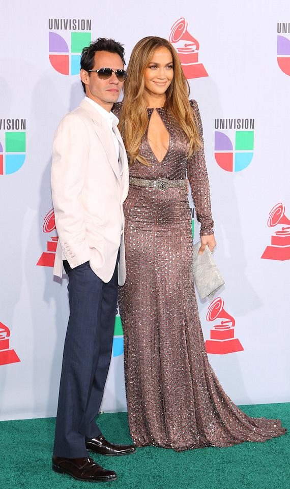 Marc Antony and Jennifer Lopez at The 11th Annual Latin Grammy Awards at Mandalay Bay