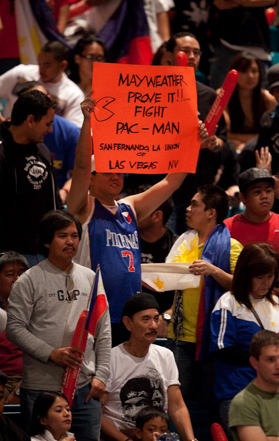 A fan hopes for a Mayweather-Pacquiao fight