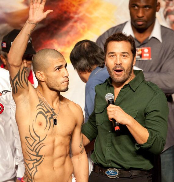Miguel Cotto and actor Jeremy Piven