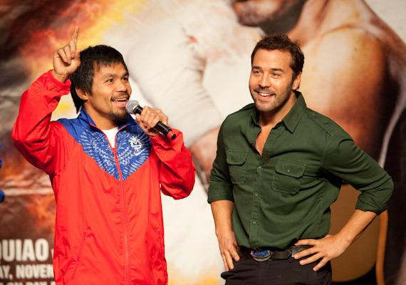 Manny Pacquiao and actor Jeremy Piven