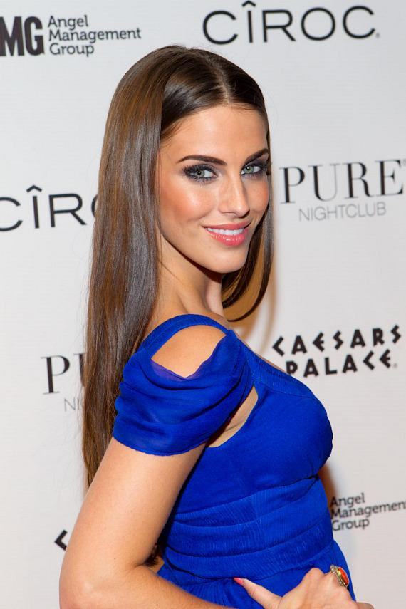 Jessica Lowndes on red carpet at PURE Nightclub in Las Vegas