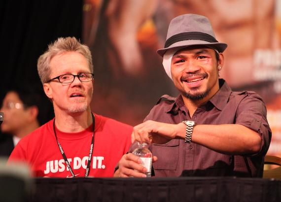Freddie Roach and Manny Pacquiao