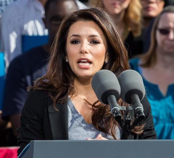 Eva Longoria at President Barack Obama rally in Las Vegas