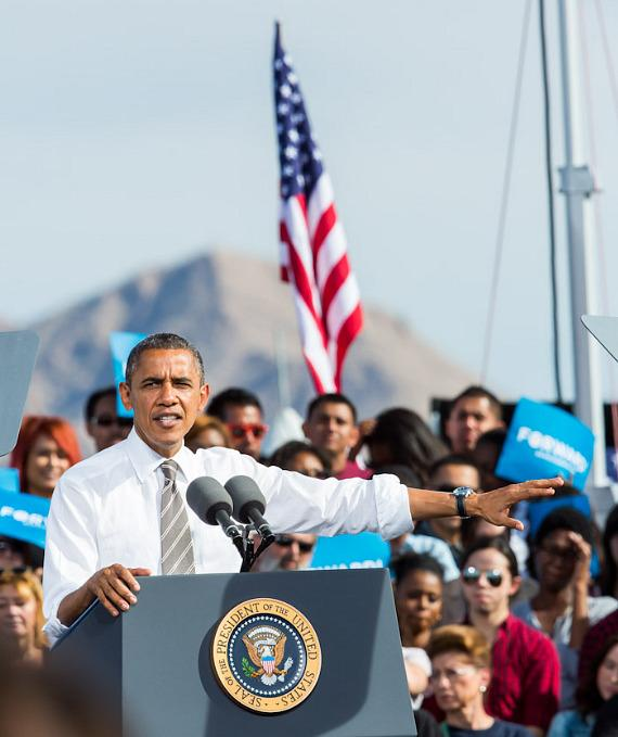 President Barack Obama in Las Vegas