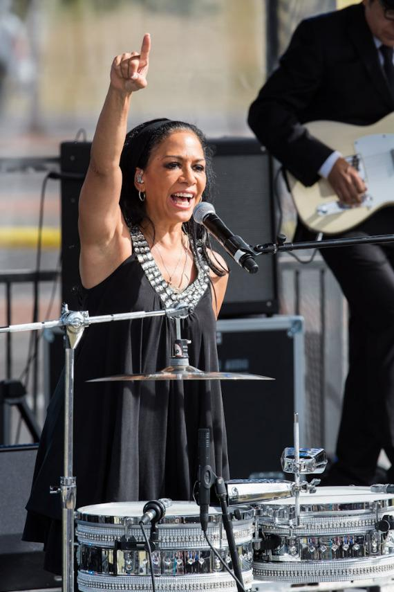 Sheila E. at President Barack Obama rally in Las Vegas