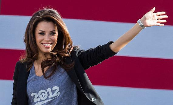 Eva Longoria stumps for President Barack Obama in Las Vegas.