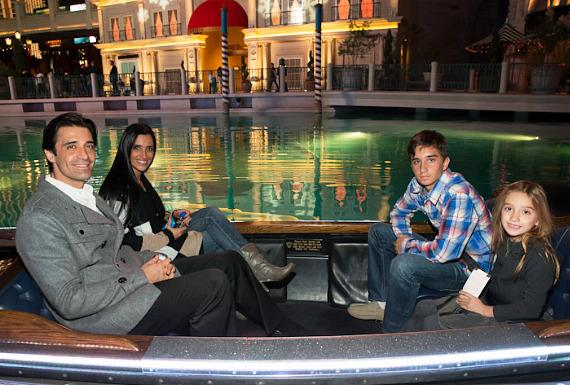 Gilles Marini and family in gondola