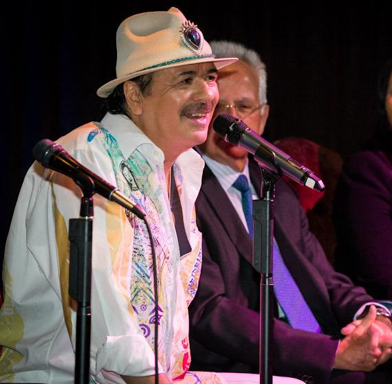 "Carlos Santana holds press conference to announce new album ""Corazón"""