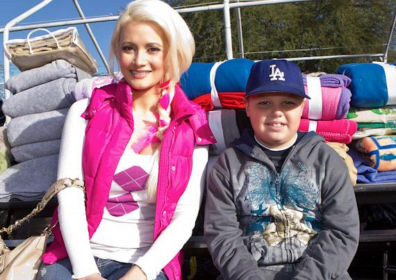 Holly Madison and Blaze Trumble at The Las Vegas Rescue Mission