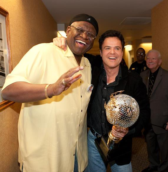 Backstage with George Wallace and Donny Osmond