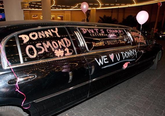 Donny's decorated limo arrives at The Flamingo