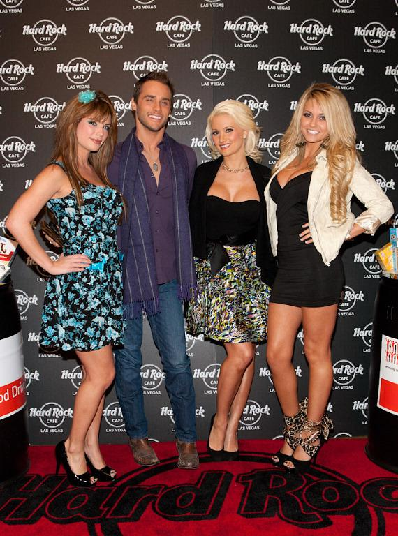 Laura Croft, Josh Strickland, Holly Madison and Angel Porrino