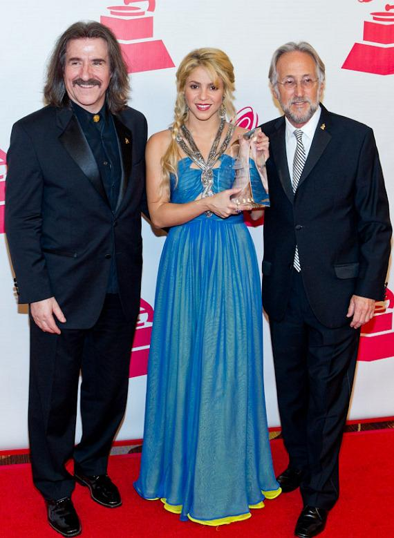 Chairman of the Latin Recording Academy Luis Cobos, Shakira, Recording Academy President/CEO Neil Portnow