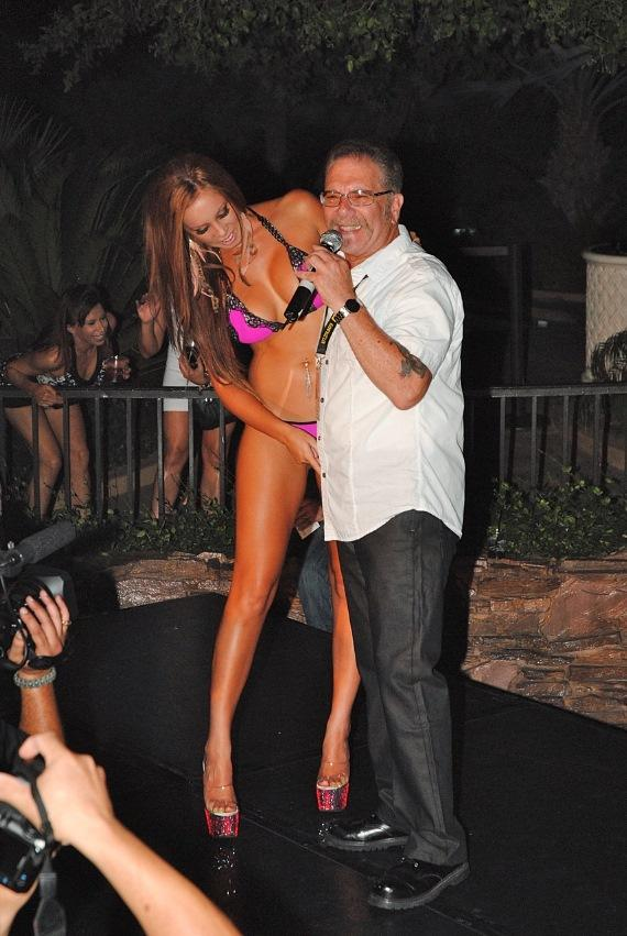 """Ronnie the Limo Driver"" hosts bikini party at The Mirage in Las Vegas"