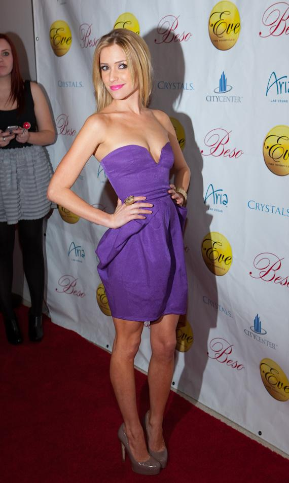 Kristin Cavallari celebrates 23rd birthday at EVE Nightclub
