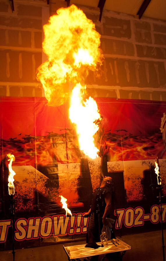 Highest Flame Ever Blown by a Fire Breather