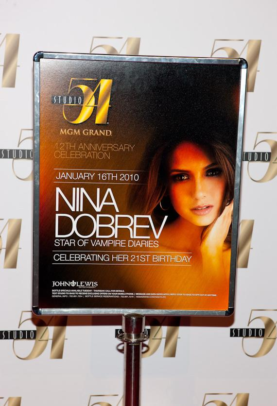 Nina Dobrev celebrates 21st birthday at Studio 54