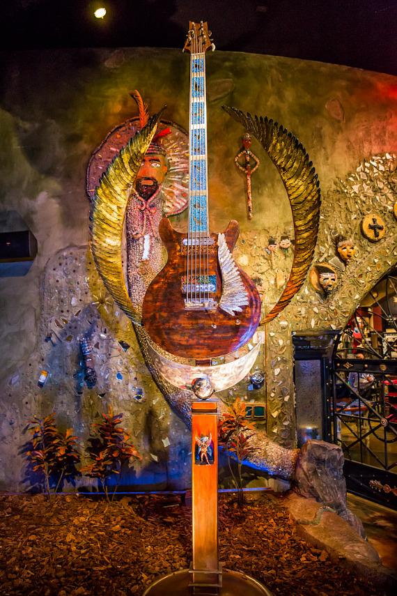 """Wings of Legend"" guitar sculpture by Dale Evers"