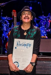"Carlos Santana Honored with Proclamation and ""Key to the Las Vegas Strip"""