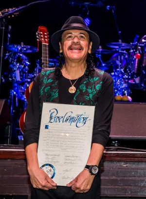 Carlos Santana Honored with Proclamation and