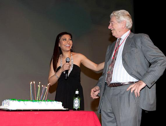Lani Misalucha and Seymour Cassel