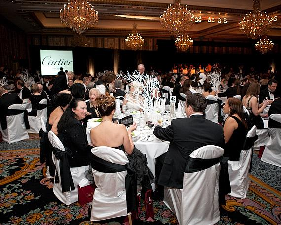 The Black & White Ball in the Champagne Ballroom at Paris Las Vegas