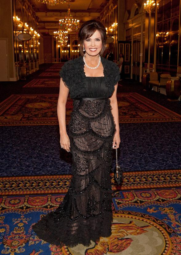 Maria Osmond is 'Woman of the Year' at Black White Ball