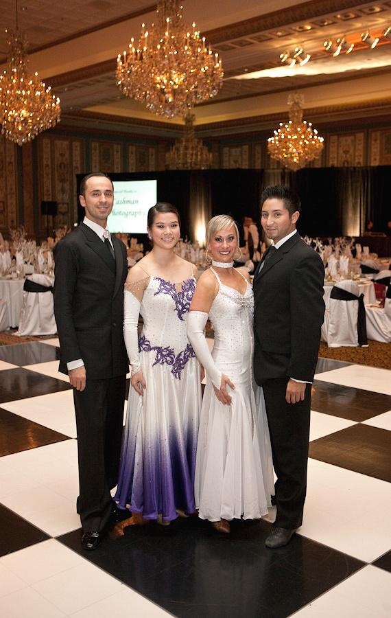 Ballroom dancers at the Black & White Ball