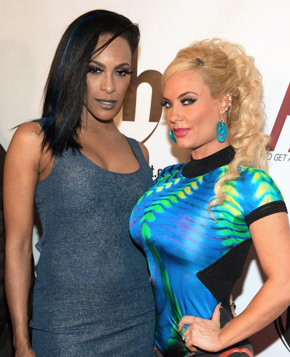 Cheaza and Coco at  Red Carpet Premiere of PARKER at Planet Hollywood